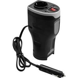 Inverter Technaxx TE13 200 W 12 V/DC Oblika nositelja šalice Utikač za avtomobilski cigaretni upaljač