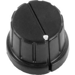 Vrtljivi gumb z označevalno piko, črne barve (Ø) 24 mm TRU Components TC-DK24 1 kos