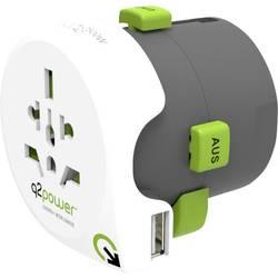 Q2 Power 2.100110 Putni utikač Weltreiseadapter Qdapter USB