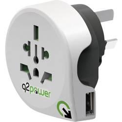 Q2 Power 1.100170 Potovalni adapter Welt nach Australien/China mit USB