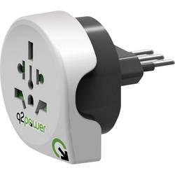 Q2 Power 1.100180 Potovalni adapter Welt nach Italien