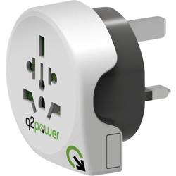 Q2 Power 1.100120 Potovalni adapter World to Great Britain