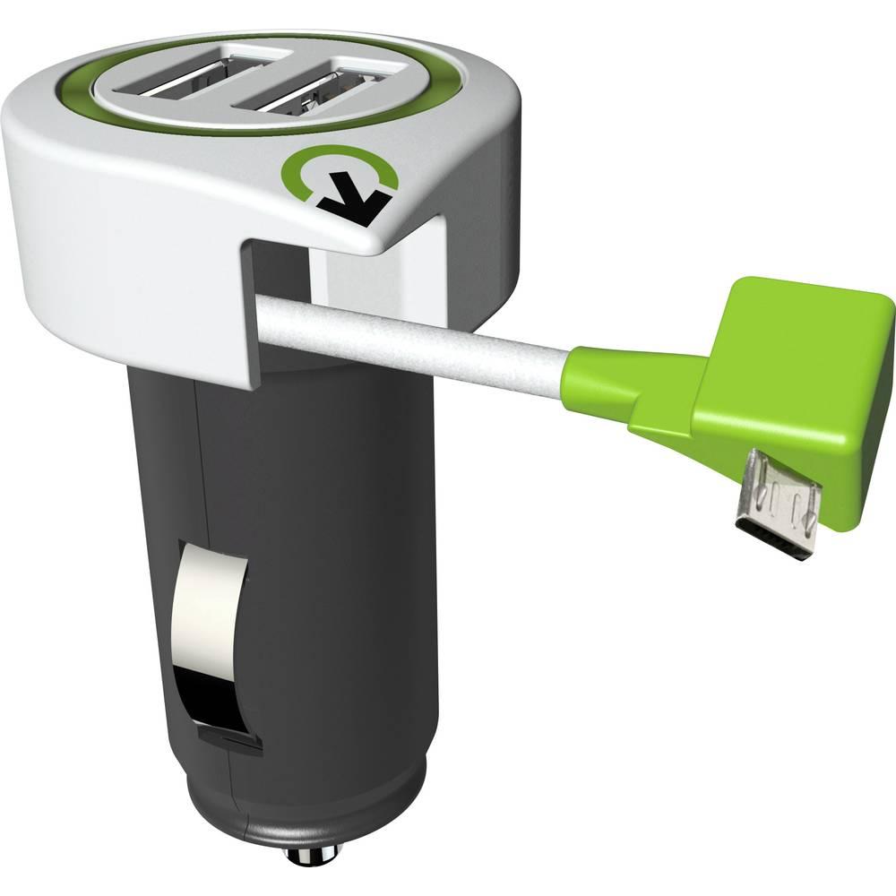 Q2 Power 3.100110 3.100110 USB napajalnik osebno vozilo, toprednjio vozilo Izhodni tok maks. 3100 mA 3 x USB, moški konektor mik