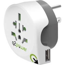 Q2 Power 1.100150 Potovalni adapter Welt nach USA mit USB