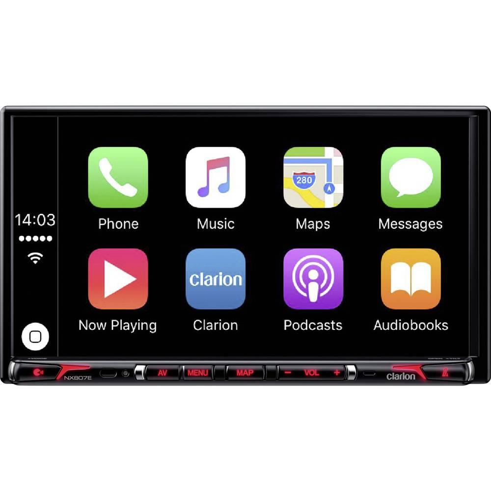 Clarion NX807ECDAB Navigationsenhed, fastmontering Europa DAB+ tuner, Camper/lastbil-software , Håndfrit Bluetooth®-system, AppR