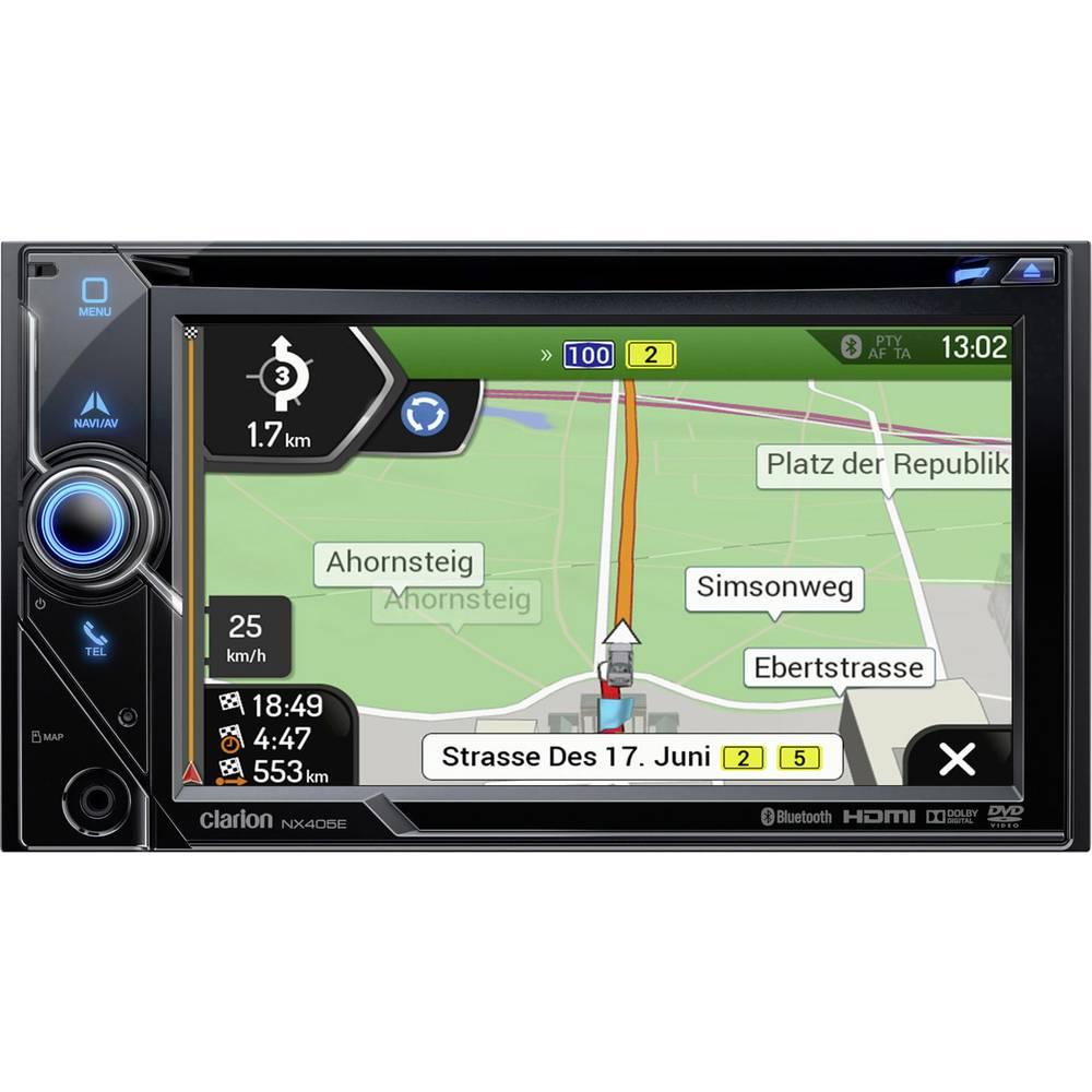 Clarion NX405EC Navigationsenhed, fastmontering Europa Camper/lastbil-software , Håndfrit Bluetooth®-system, Integreret navigati