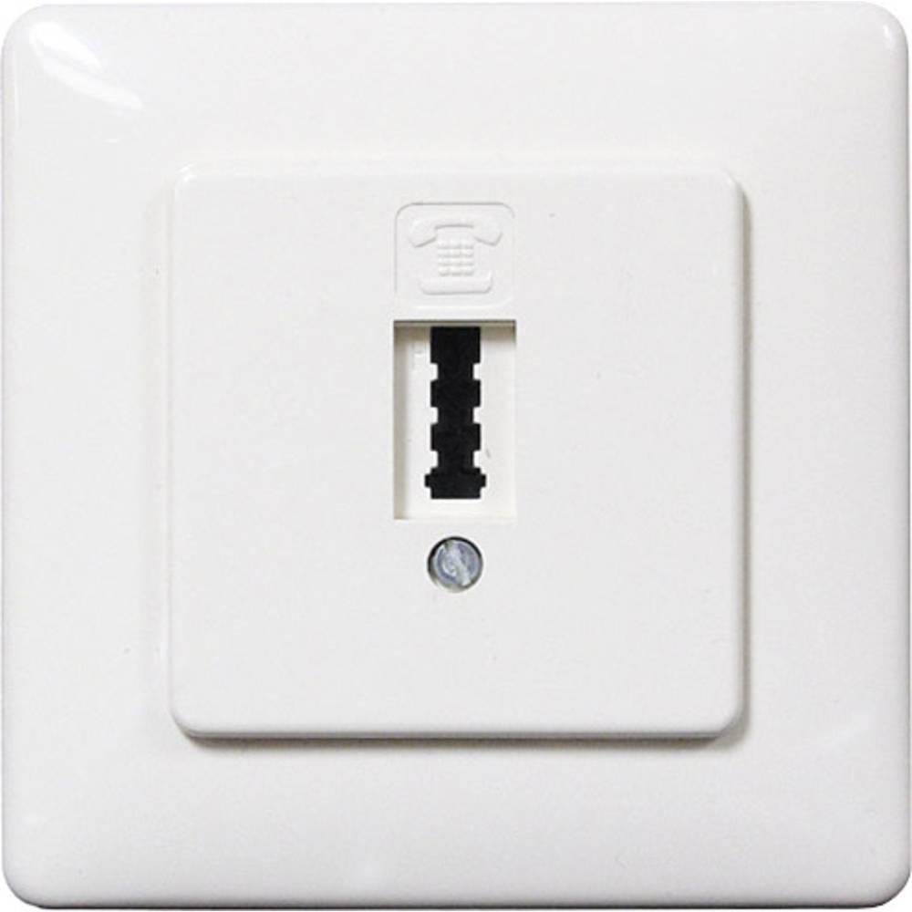 Telefonska utičnica Basetech N- & F-kodiranje podžbukna, bijela