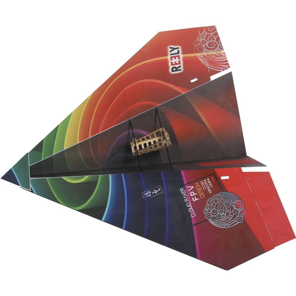 Reely FPV Paper Plane mikro model letala na daljinsko vodenje, notranja uporaba, komplet za sestavljanje 1000 mm