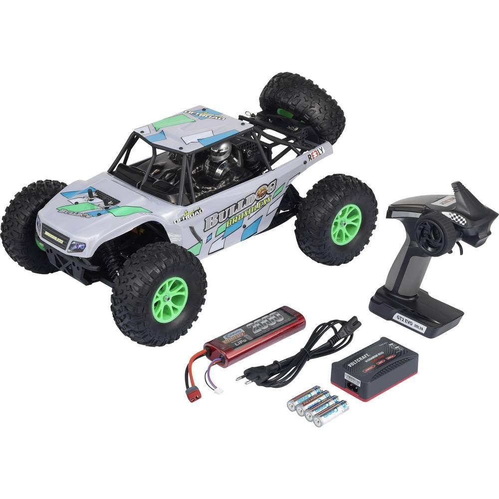 Reely Bulldog brezkrtačni brezkrtačni 1:10 RC model avtomobila na daljinsko vodenje, Buggy, pogon na vsa kolesa, 100% RtR, 2,4 G