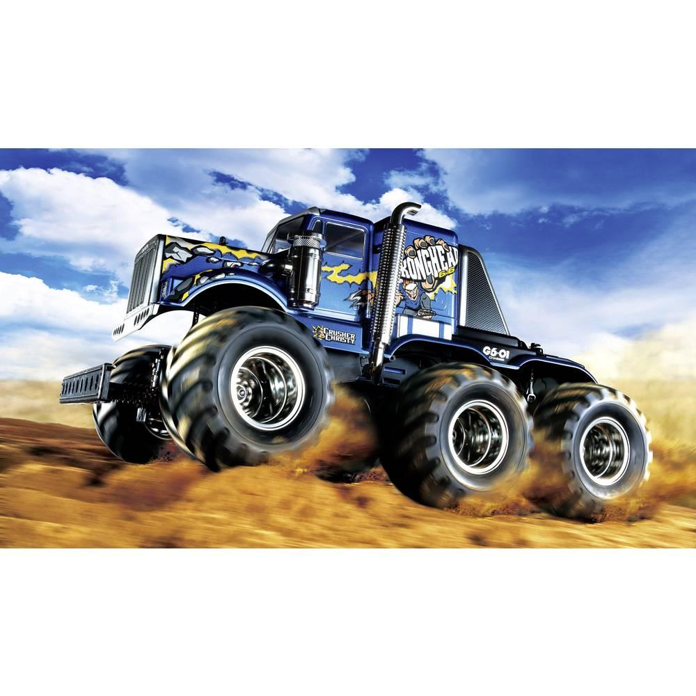 Tamiya Konghead 6x6 s ščetkami 1:18 RC Modeli avtomobilov Elektro Monster Truck Pogon na vsa kolesa (4WD) Komplet za sestavljanj