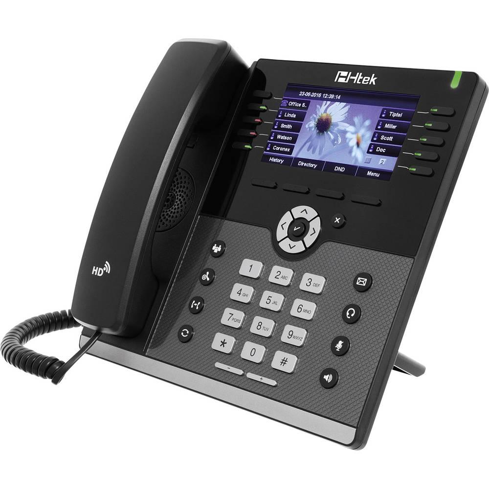 Telefon s kabelom, VoIP TipTel Htek UC926 Handsfree, Priključak za slušalice TFT/LCD u boji Crna