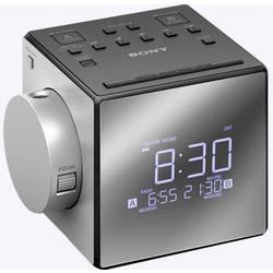 Sony ICF-C1PJ radijska ura UKW USB funkcija polnjenja baterije srebrna