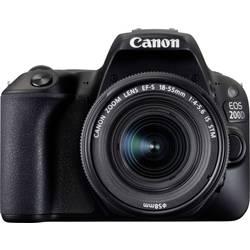 Systemkamera Digital Canon EOS 200D inkl. EF-S 18-55 mm IS STM 24.2 MPix Svart