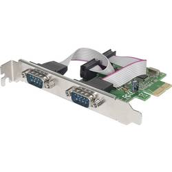 2 vrata Serijska vmesniška kartica Serijski (9-pin) PCIe Manhattan Serielle PCI-Express-Karte 2 DB9-Ports geeignet für PCIe x1 x
