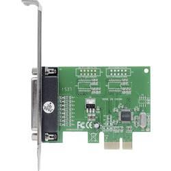 1 vrata Paralelna vmesniška kartica Paralelni (IEEE 1284) PCIe Manhattan Parallele PCI-Express-Karte 1 DB25-Port geeignet für PC