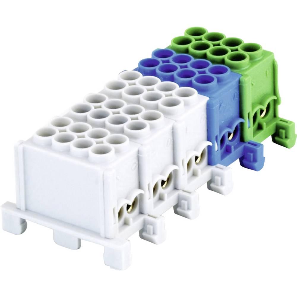 FTG Friedrich Göhringer 5685 odcepna sponka za glavni kabel medenina siva, modra, zelena 25 mm² 80 A 400 V Vrste vodnikov