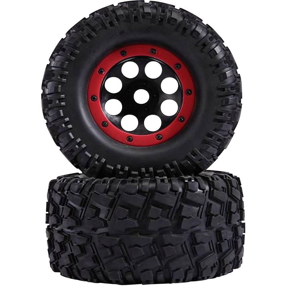 Reely 1:8 komplet koles za Monstertruck XL Strike črne/rdeče barve 2 kosa
