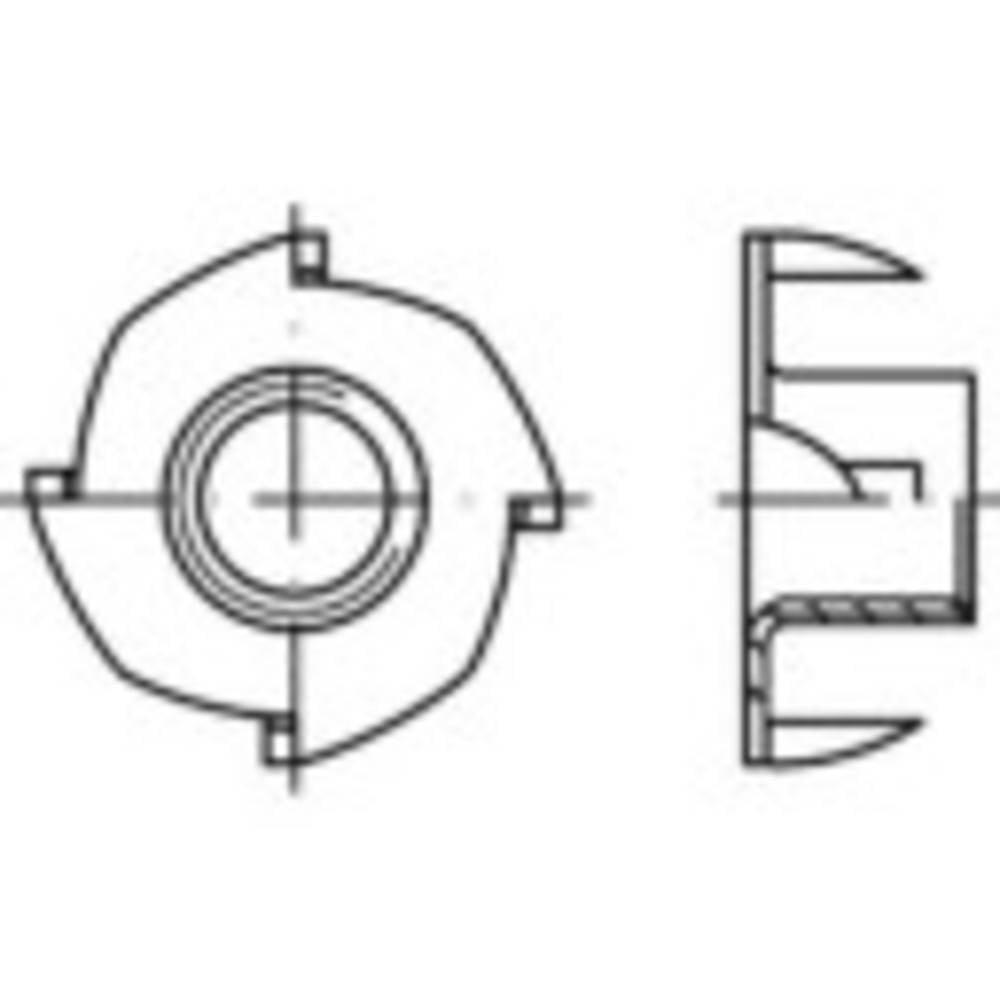 Låsmutter M10 Stål galvaniskt förzinkad 100 st TOOLCRAFT 159331