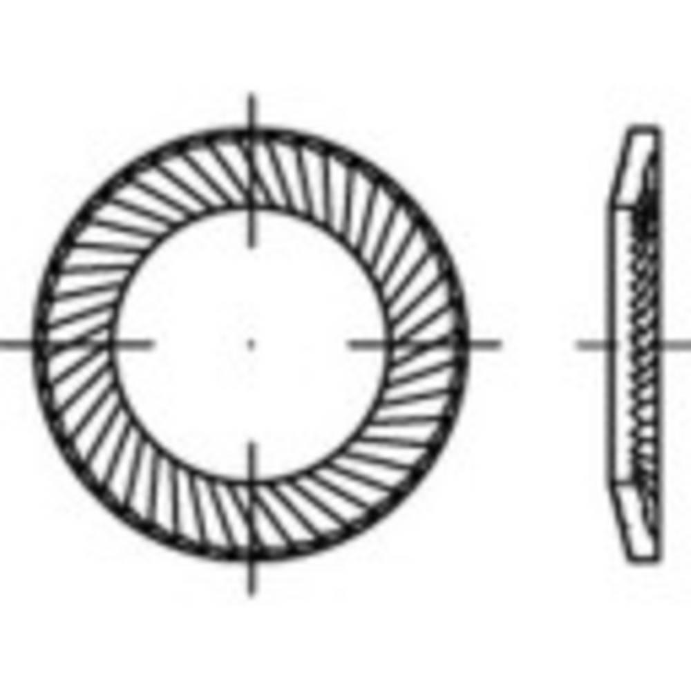 Samoosiguravajuća podloška, unutarnji promjer: 2 mm nehrđajući čelik A2 1000 kom.