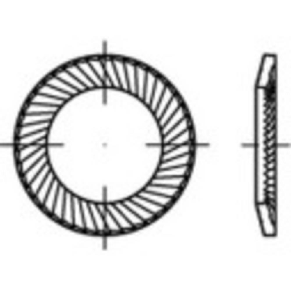 Sigurnosne podloške, unutarni promjer: 6 mm nehrđajući čelik A2 1000 kom.