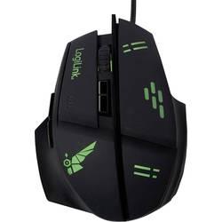 LogiLink ID0157 USB gaming miš Optički Osvjetljen Crna