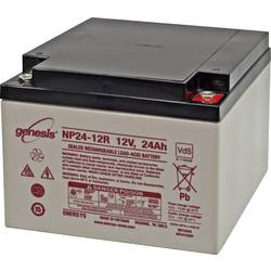 EnerSys Genesis NP24-12 svinčeni akumulator 12 V 24 Ah svinčevo-koprenast (Š x V x G) 166 x 125 x 175 mm m5-vijačni priklop brez