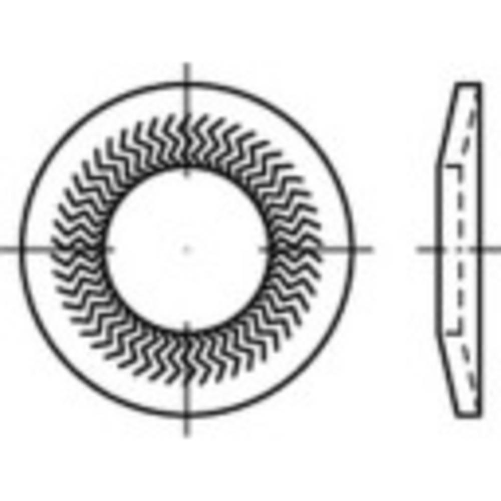Låsbrickor med kant Inre diameter: 6 mm Fjäderstål förzinkad 250 st 159413