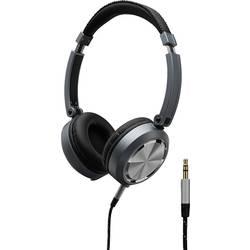 Monacor MD-460 over ear slušalke over ear zamenljive ušesne čašice črna, srebrna