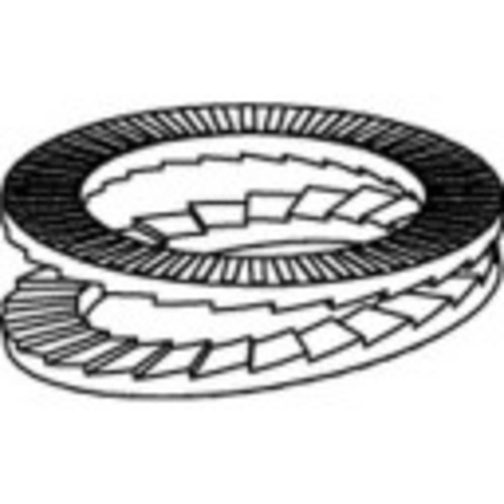 Låsbrickor Inre diameter: 24 mm Rostfritt stål A4 100 st 1069928