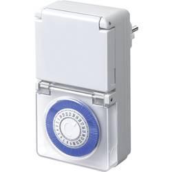 Stikalna ura za vtičnico, analogna, dnevni program Brennenstuhl 1506170 3680 W IP44