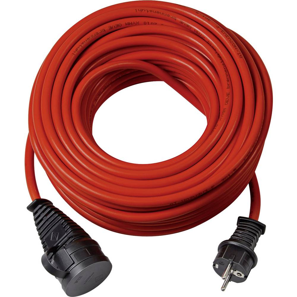 Električni podaljšek [ varnostni vtič - varnostna vtičnica] rdeče barve 10 m za zunanjo uporabo Brennenstuhl 1169830