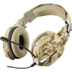 Gaming-headset Trust GXT 322D Carus Over Ear Brun, Kamouflage