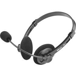 pc naglavne slušalice sa mikrofonom 3,5 mm priključak sa vrpcom, stereo Trust Lima Chat na ušima crna