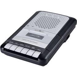 Reflexion CCR8012 radio s kasetofonom UKW aux, kaseta, USB funkcija snemanja, vklj. mikrofon črna, siva