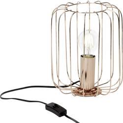 Namizna svetilka LED E-27 60 W EEK: odvisno od svetilke (A++ - E) Brilliant Flavian 52847/29 Bakrena