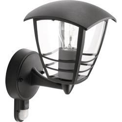 Philips Creek 153883016 Zunanja stenska svetilka z detektorjem gibanja EEK: odvisno od svetilke (A++ - E) LED E-27 60 W Črna