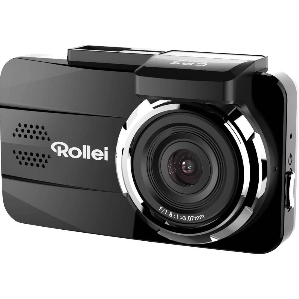 Rollei DVR-308 Avtomobilska kamera z GPS-sistemom Razgledni kot - horizontalni=151 ° 12 V, 24 V Akumulator, Mikrofon, Zaslon