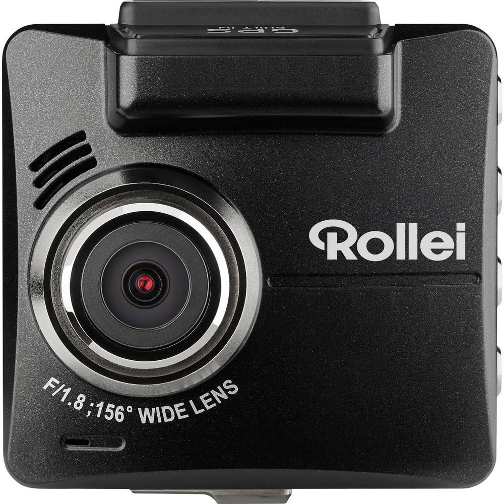 Rollei DVR-318 Avtomobilska kamera z GPS-sistemom Razgledni kot - horizontalni=156 ° 12 V, 24 V Akumulator, Mikrofon, Zaslon