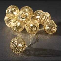 Konstsmide 3145-803 svetlobna veriga z motivom krogle znotraj baterijsko Število svetil 10 led Dolžina osvetlitve: 0.9 m