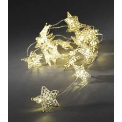 Konstsmide 3170-803 svetlobna veriga z motivom zvezda znotraj baterijsko Število svetil 20 led Dolžina osvetlitve: 1.9 m