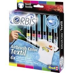 kartuše za tekstil Orbis rdeča, rumena, modra, črna, zelena, roza vložek 1 set