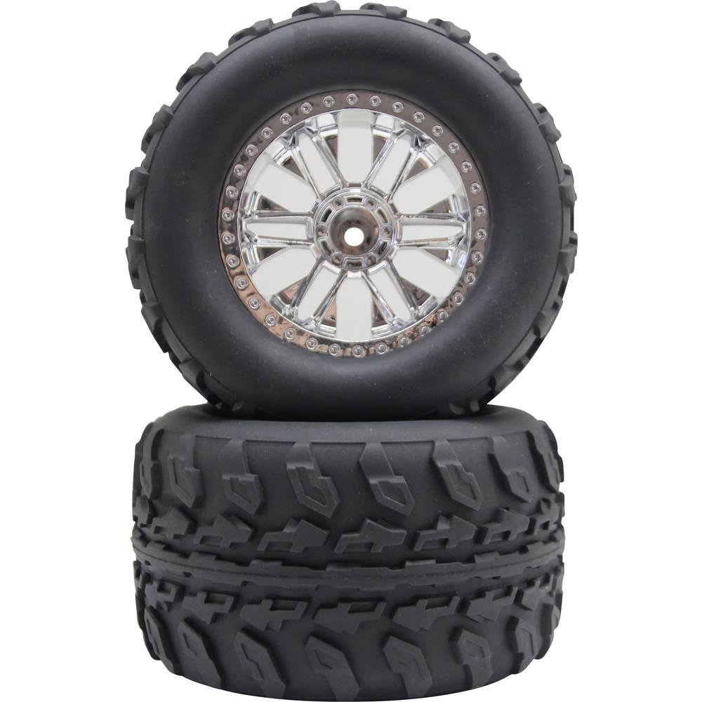 Reely 1:10 Monstertruck komplet kotača, srebrne boje 2 kom.