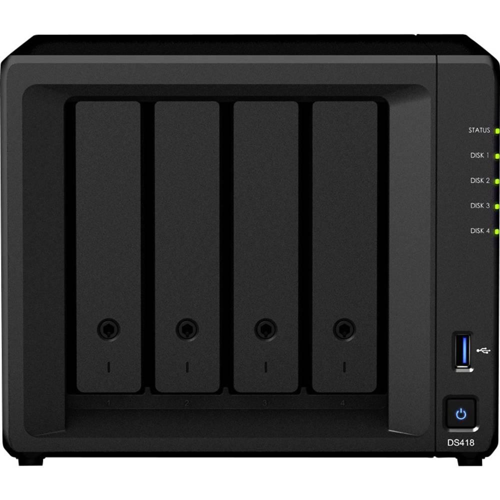 Synology DiskStation DS418 nas strežnik ohišje 4 Bay 4k video podpora, usb priključek 3,0 spredaj