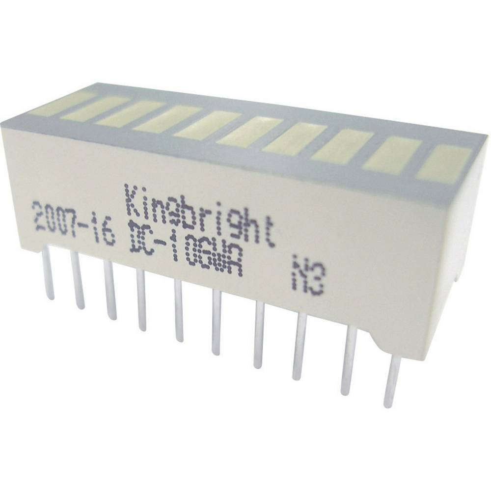 LED-Bargraph (value.1317424) Kingbright DC-10YWA (B x H x T) 25.4 x 10.16 x 8 mm 10x Gul