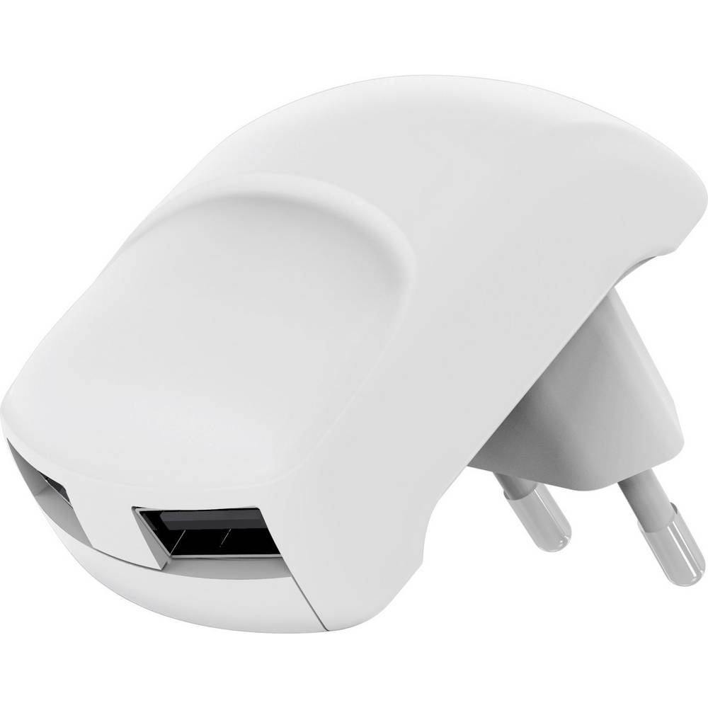 USB-oplader Goobay Dual 59234 Stikdåse Udgangsstrøm max. 2400 mA 2 x USB 2.0 Buchse A (value.1390697)