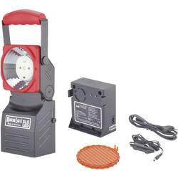 AccuLux Delovna luč, Akumulatorski ročni reflektor Črna/rdeča 456441 LED 75 h