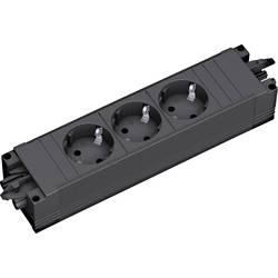 3 delni vtični modul brez stikala črne barve Bachmann 2637460