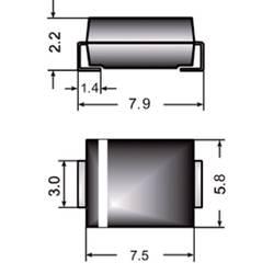 Semikron I(F)(AV) 3 A U rrm(V)50 V FR3A