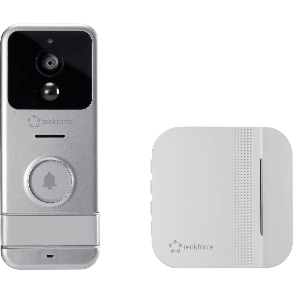 IP video portafon RF-3206026 Renkforce WLAN, bežični potpuni komplet srebrna, bijela