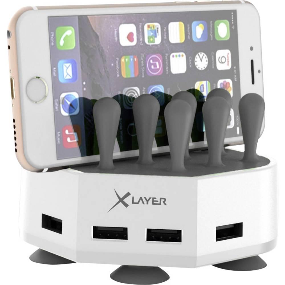 USB-opladerstation Xlayer Family Charger Mini 212729 Stikdåse Udgangsstrøm max. 6800 mA 4 x USB (value.1390762)